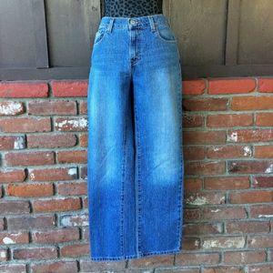 Levis 505 Straight Leg 2-Tone Blue Wash Jeans
